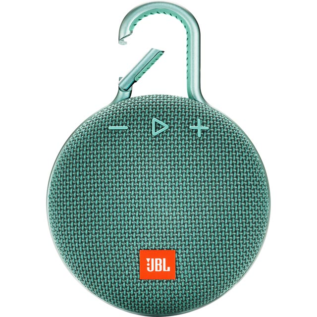 JBL Clip 3 Portable Wireless Speaker - Teal - 366993 - 1