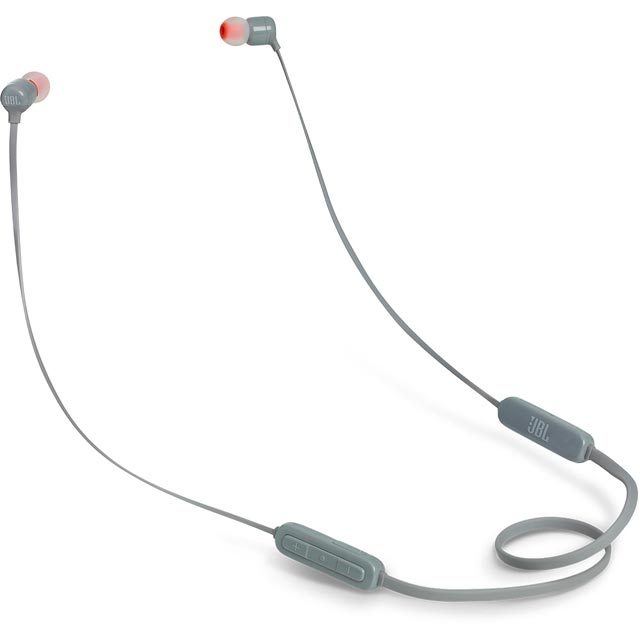 JBL T110BT In-Ear Wireless Sports Headphones - Grey - 368794 - 1