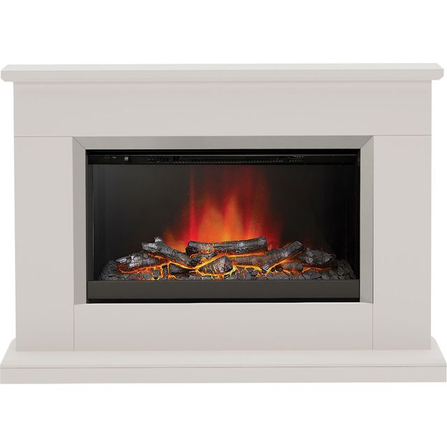 Image of BeModern Hansford 3727 Log Effect Suite And Surround Fireplace - Cashmere