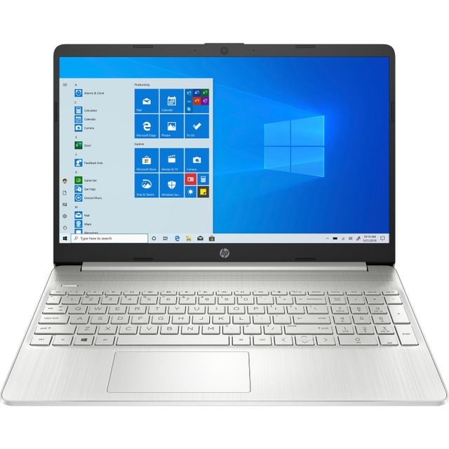 """HP 15s-fq1020na 15.6"""" Laptop - Mineral Silver"""