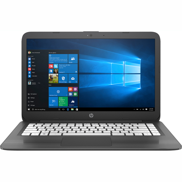 "HP Stream 14-cb006na 14"" Cloudbook Laptop Includes Office 365 Personal 1-year subscription with 1TB Cloud Storage - Smoke Grey - 3RN92EA#ABU - 1"