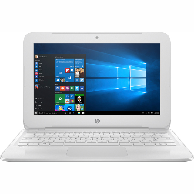 "HP Stream 11-ah004na 11.6"" Cloudbook Laptop Includes Office 365 Personal 1-year subscription with 1TB Cloud Storage - Snow White - 3RP24EA#ABU - 1"