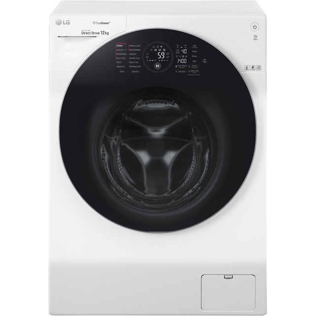 LG TrueSteam� FH4G1BCS2 Wifi Connected 12Kg Washing Machine with 1400 rpm - White - A Rated