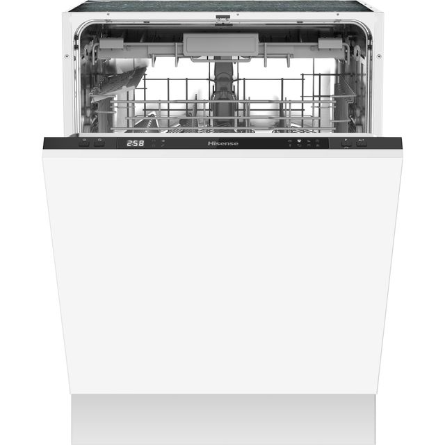 Hisense HV603D40UK Fully Integrated Standard Dishwasher - Black Control Panel with Fixed Door Fixing Kit - D Rated