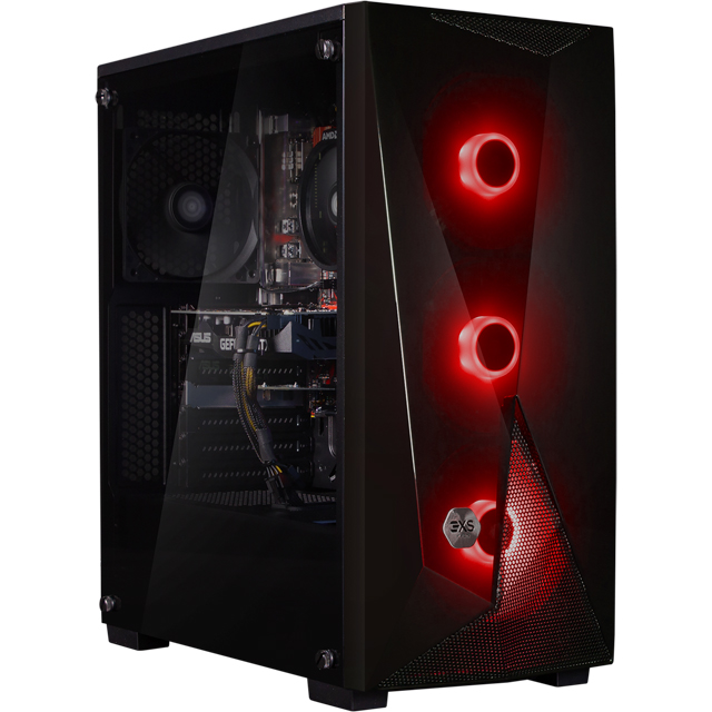 3XS Core 1660Ti RGB Gaming Tower - 1TB SSD - Black