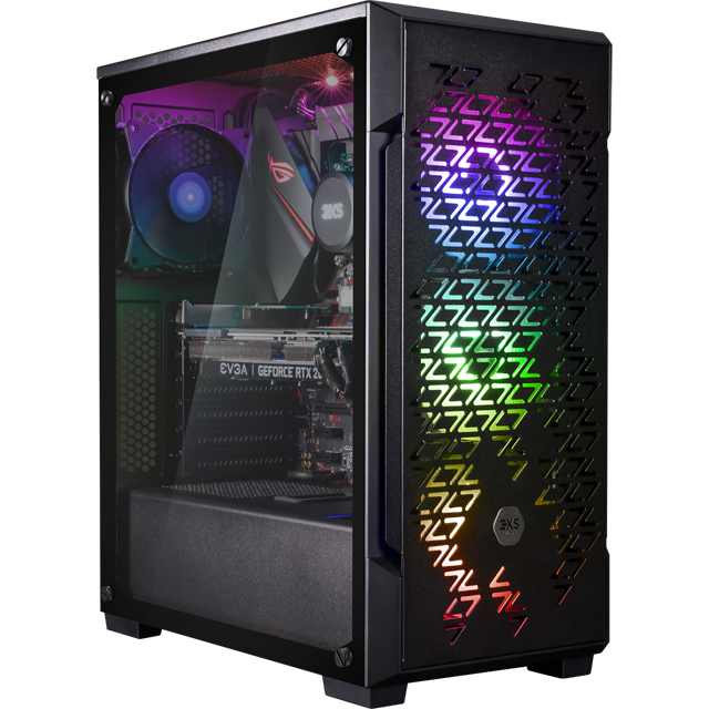 3XS Halo 2080Ti RGB Gaming Tower - 2TB + 1TB - Black