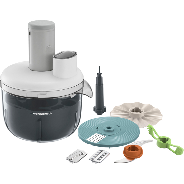 Morphy Richards Prepstar 401012 4 Litre Food Processor With 6 Accessories - White - 401012_WH - 1