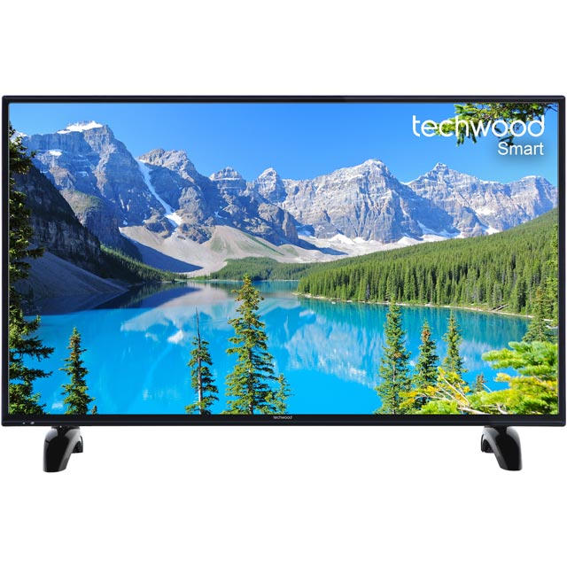 "Techwood 40AO7USB 40"" Smart TV with Freeview Play - Black - [A+ Rated] - 40AO7USB - 1"