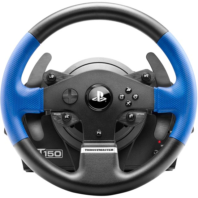 Thrustmaster T150 Force Feedback Steering Wheel & Pedals - Black / Blue