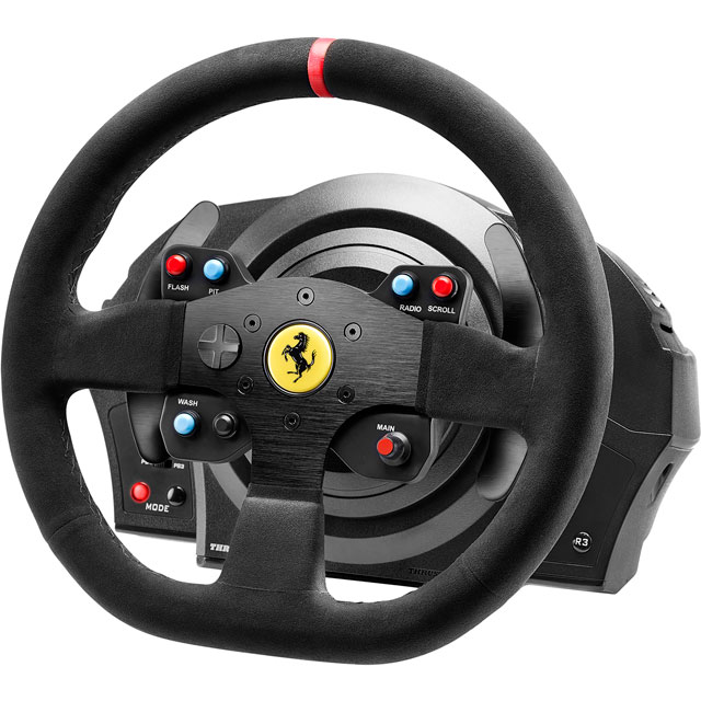 Thrustmaster T300 Ferrari Integral Racing Wheel Alcantara Edition & Pedals - Black - 4168055 - 1