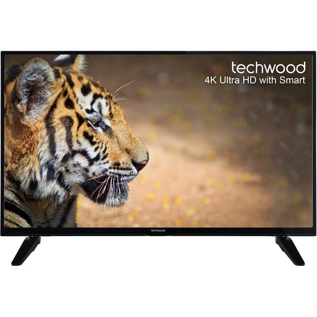 "Techwood 43"" Smart 4K Ultra HD TV with Freeview Play - Black - [A+ Rated]"