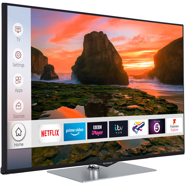 "Techwood 43AO8UHD 43"" Smart 4K Ultra HD TV - Black - 43AO8UHD - 3"