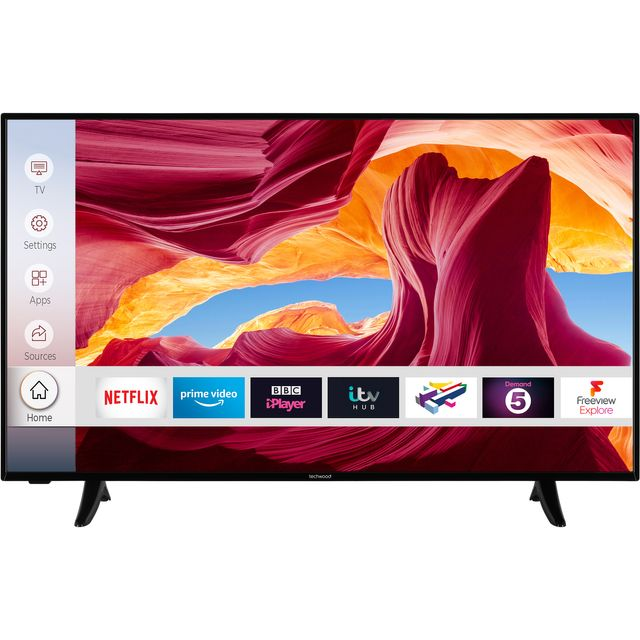 """Techwood 43AO9UHD 43"""" Smart 4K Ultra HD TV With Dolby Vision and Works With Alexa"""
