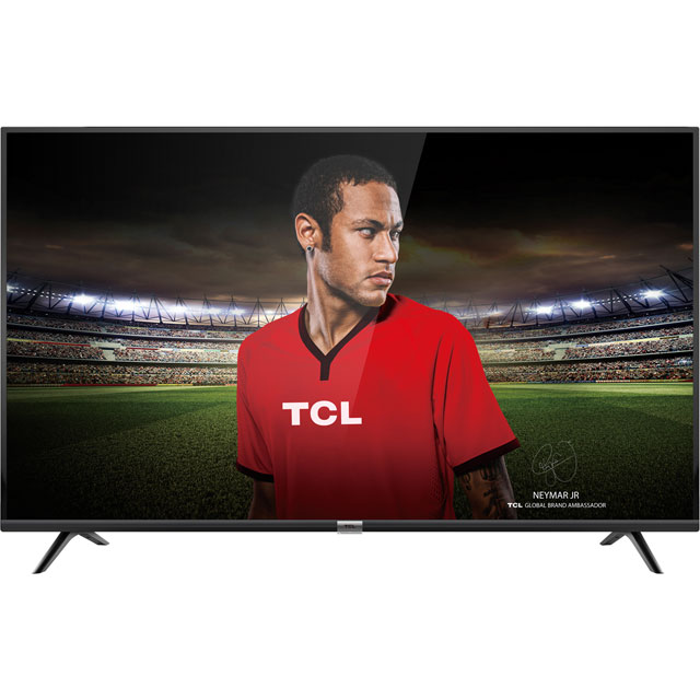 "TCL 43DP628 43"" Smart 4K Ultra HD TV with HDR and Freeview Play - Black - [A Rated] - 43DP628 - 1"