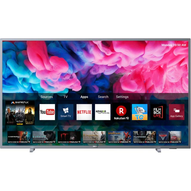 "Philips 50PUS6523 50"" Smart 4K Ultra HD TV - Dark Silver - 50PUS6523 - 2"