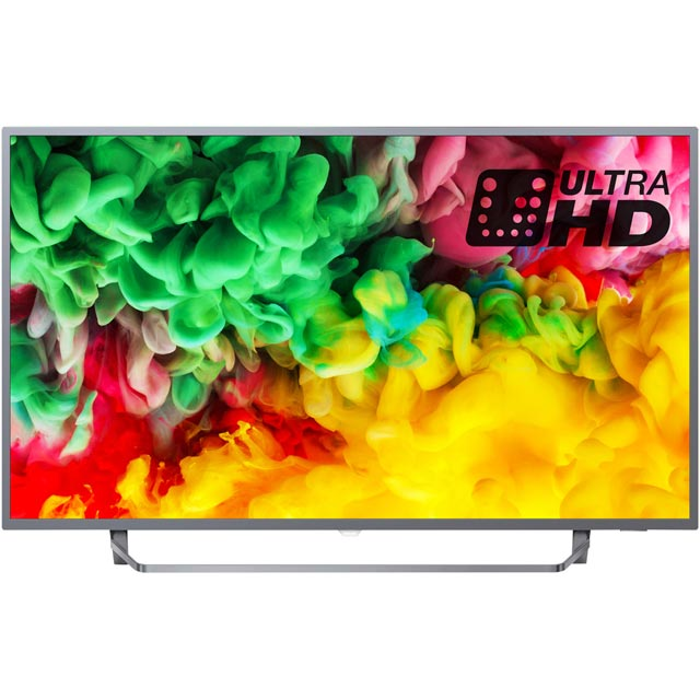 "Philips 43PUS6753 43"" Smart Ambilight 4K Ultra HD TV with HDR and Freeview Play HDR10 / HLG - Dark Silver - [A Rated] - 43PUS6753 - 1"