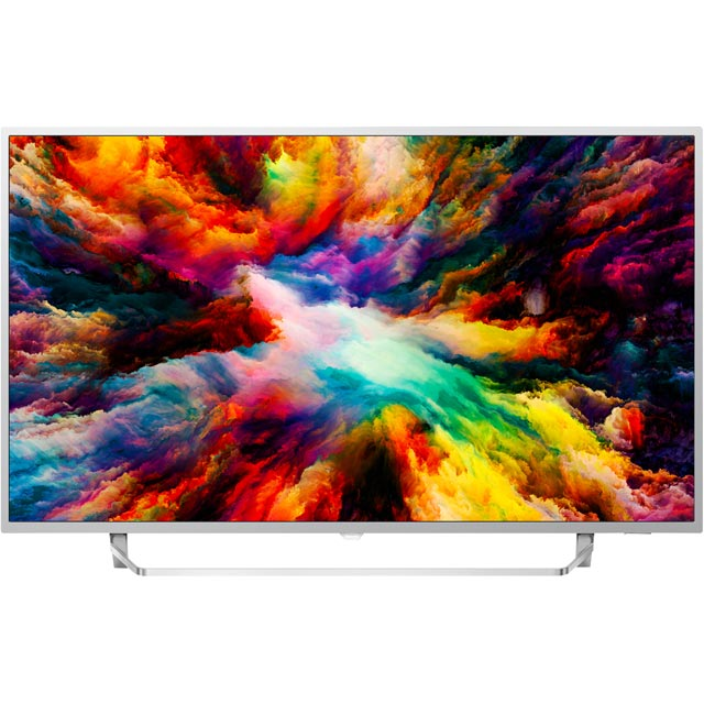 "Philips 55PUS7383/12 55"" Smart Ambilight 4K Ultra HD TV with HDR and HDR10/HLG - Metallic Silver - [A+ Rated] - 55PUS7383/12 - 1"