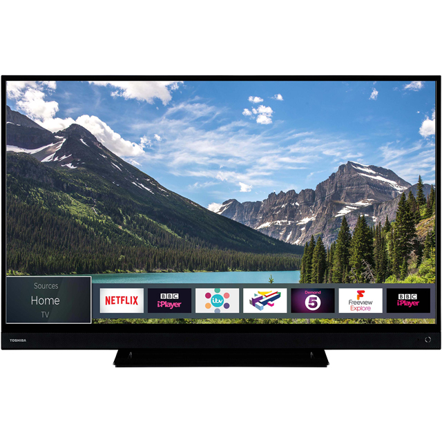 "Toshiba 43T6863DB 43"" Smart 4K Ultra HD TV with HDR and Freeview Play - 43T6863DB - 1"