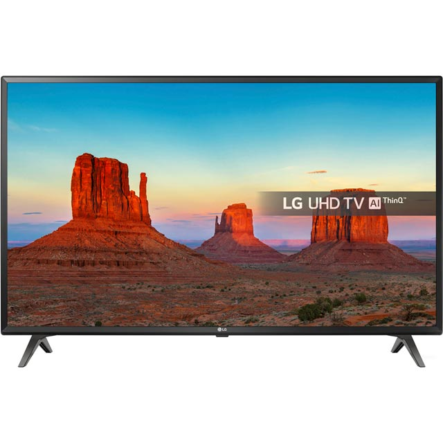 "LG 43UK6300PLB 43"" Smart 4K Ultra HD TV with HDR and Freeview Play - Black - [A Rated] - 43UK6300PLB - 1"