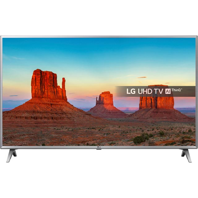 "LG 43UK6500PLA 43"" Smart 4K Ultra HD TV with HDR and Freeview Play - Black / Silver - [A Rated] - 43UK6500PLA - 1"