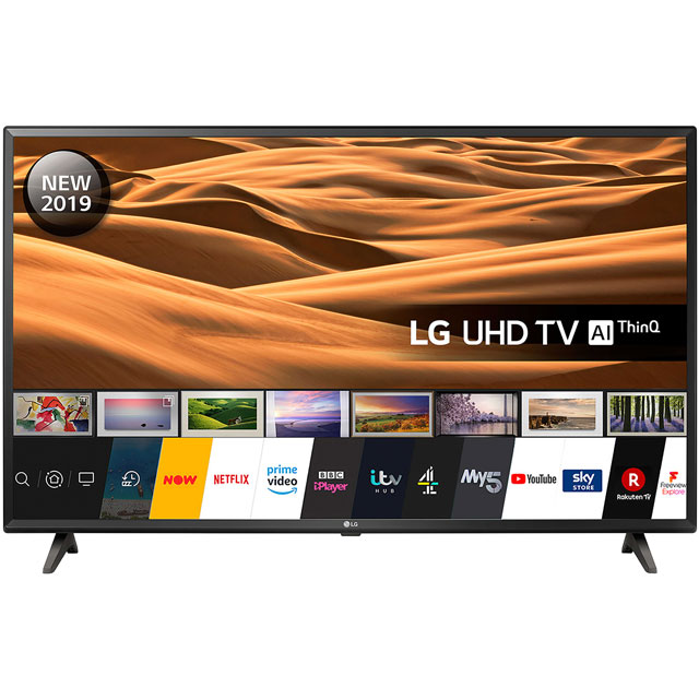 "LG 43UM7000PLA 43"" Smart 4K Ultra HD TV with HDR10, True Colour Accuracy and Freeview Play - 43UM7000PLA - 1"