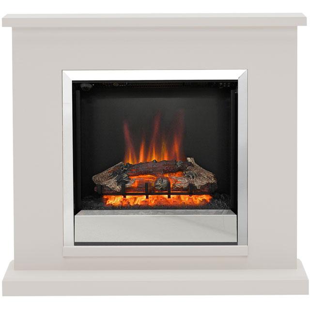 Image of BeModern Elsham 4510 Log Effect Suite And Surround Fireplace - Cashmere