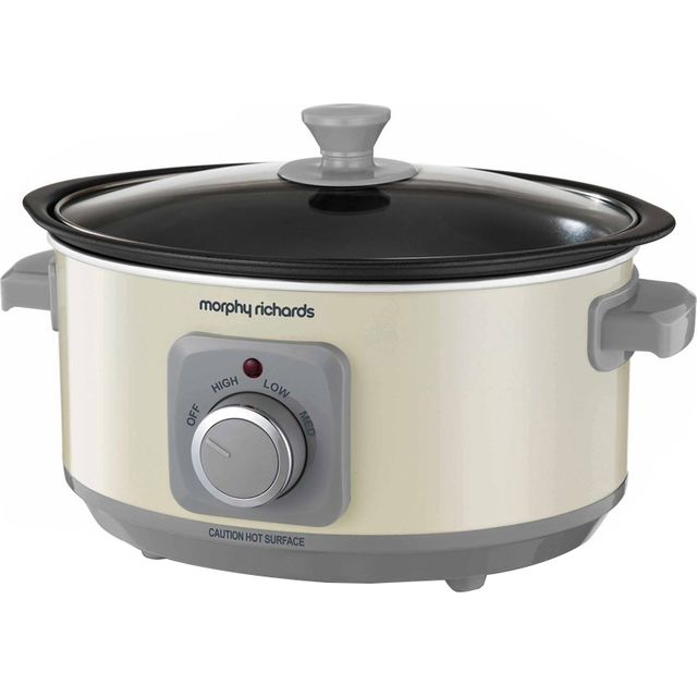 Morphy Richards Evoke Sear And Stew 460013 3.5 Litre Slow Cooker - Cream - 460013_CR - 1