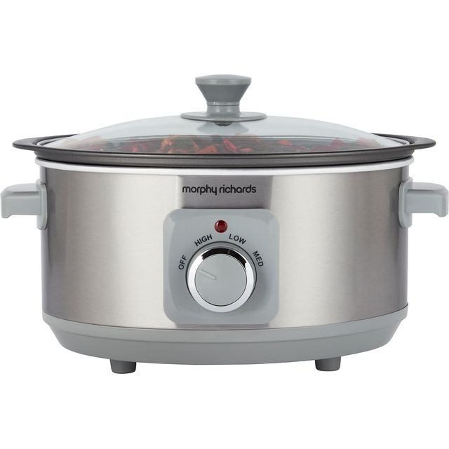 Morphy Richards Sear And Stew 460018 3.5 Litre Slow Cooker - Aluminium