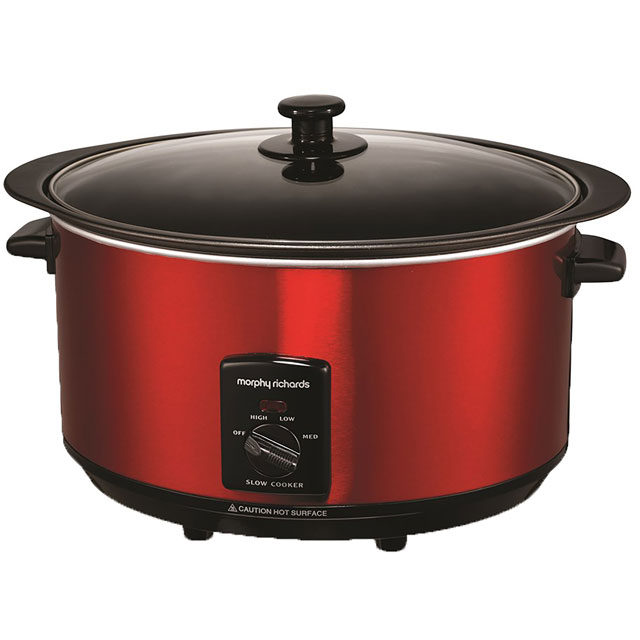 Image of Morphy Richards 461000 Slow Cooker in Red
