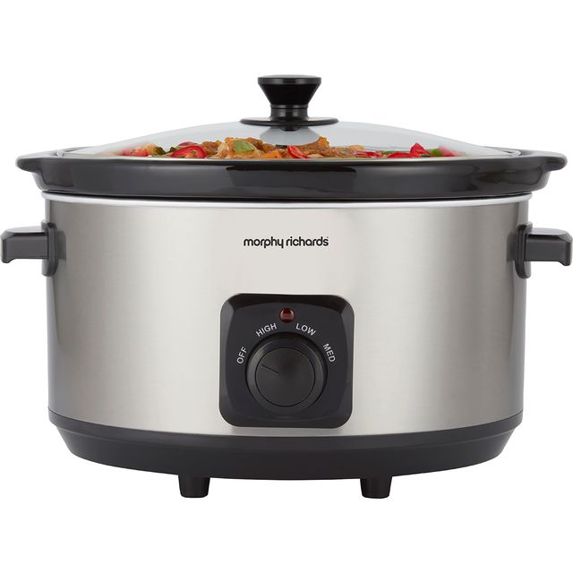 Morphy Richards 461013 6.5 Litre Slow Cooker - Brushed Stainless Steel