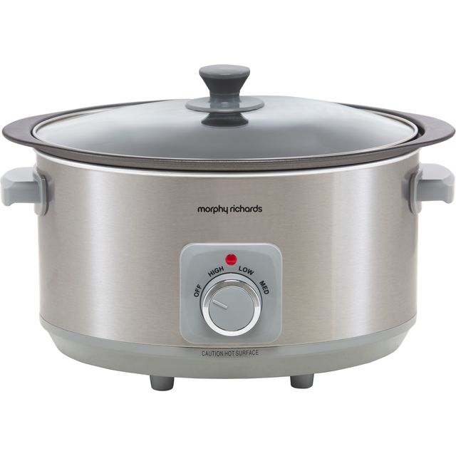 Morphy Richards Sear And Stew 461014 6.5 Litre Slow Cooker - Aluminium
