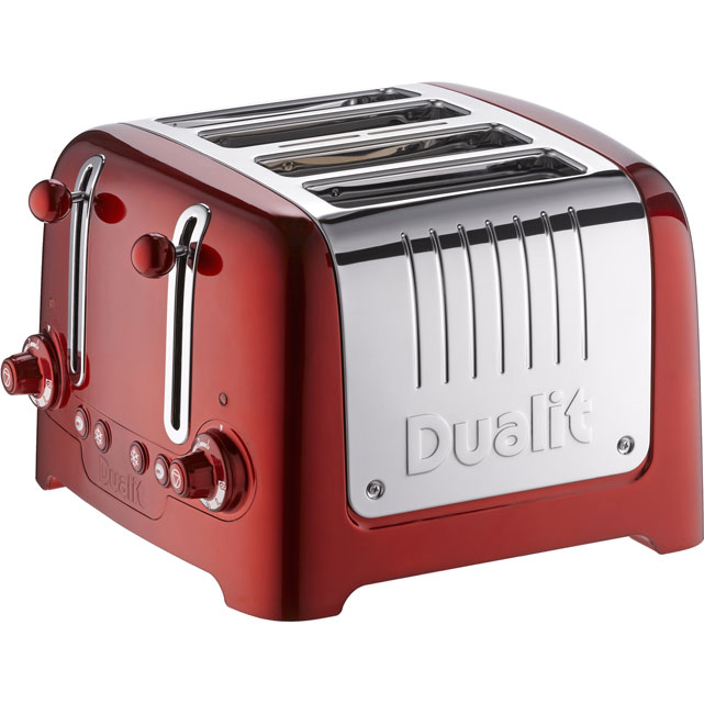 Dualit Lite 46281 4 Slice Toaster - Metallic Red