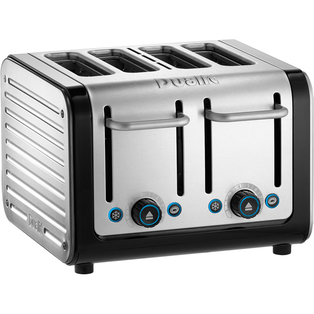 Dualit Architect 4 Slice Toaster - Black / Brushed Steel