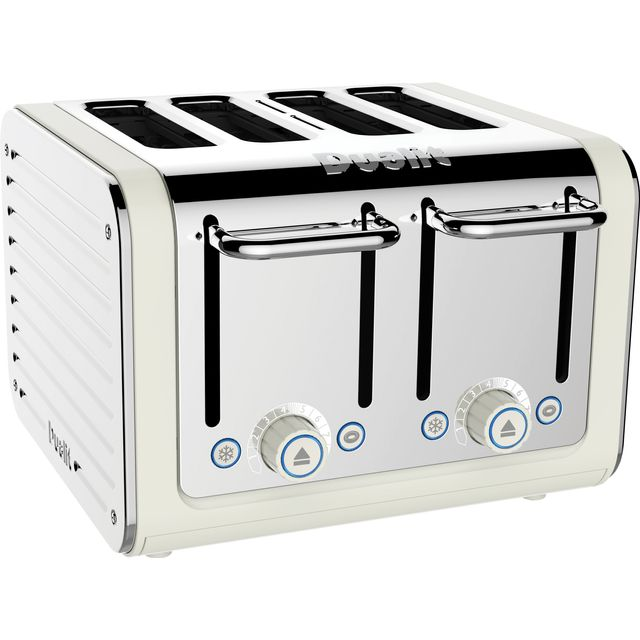 Dualit Architect 46523 4 Slice Toaster - Canvas White / Stainless Steel