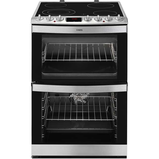 AEG Competence 47102V-MN Electric Cooker with Ceramic Hob - Stainless Steel - A/A Rated