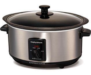 Morphy Richards Sear And Stew 48701 Slow Cooker - Brushed Steel - 48701_SS - 1