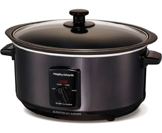 Morphy Richards Sear And Stew 48703 3.5 Litre Slow Cooker - Black - 48703_BK - 1