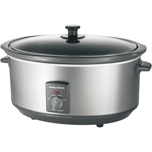 Morphy Richards 48718 6.5 Litre Slow Cooker - Brushed Stainless Steel - 48718_BSS - 1