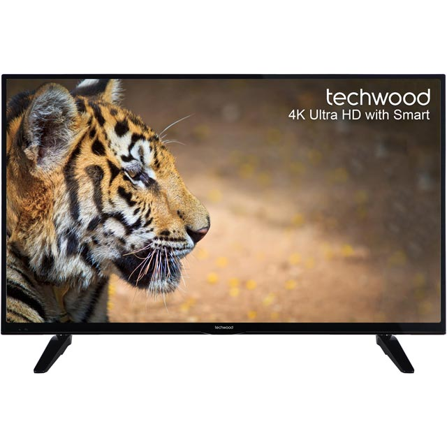 "Techwood 49"" Smart 4K Ultra HD TV with Freeview Play - Black - [A+ Rated]"