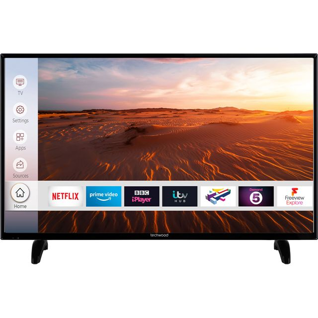 "Techwood 49AO8FHD 49"" Smart TV - Black - 49AO8FHD - 1"