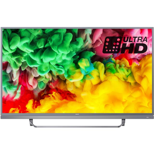 "Philips 49PUS6803 49"" Smart Ambilight 4K Ultra HD TV with HDR and Freeview Play HDR10/HLG - Dark Silver - [A Rated]"