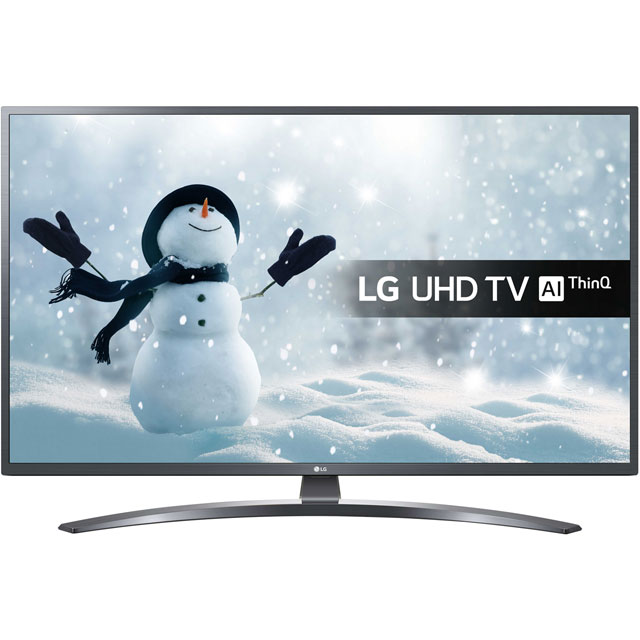"LG 49UM7400PLB 49"" Smart 4K Ultra HD TV - Dark Grey - 49UM7400PLB - 1"