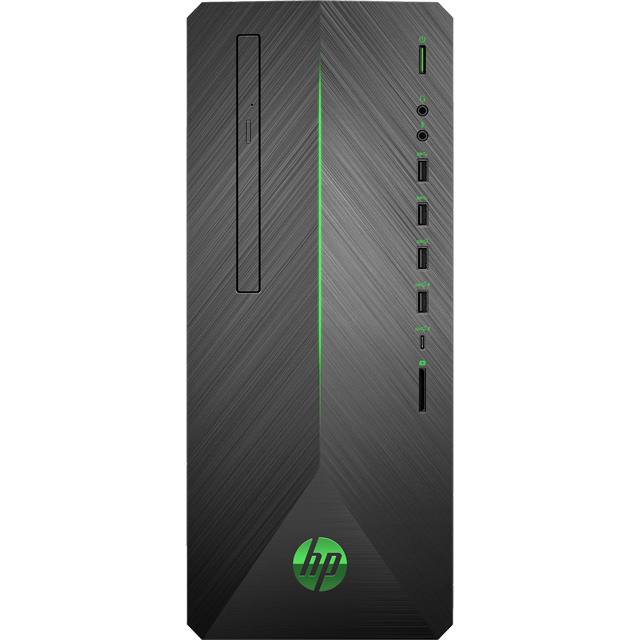 HP Pavilion Power 690-0022na Gaming Tower - Black / Green - 4DU53EA#ABU - 1