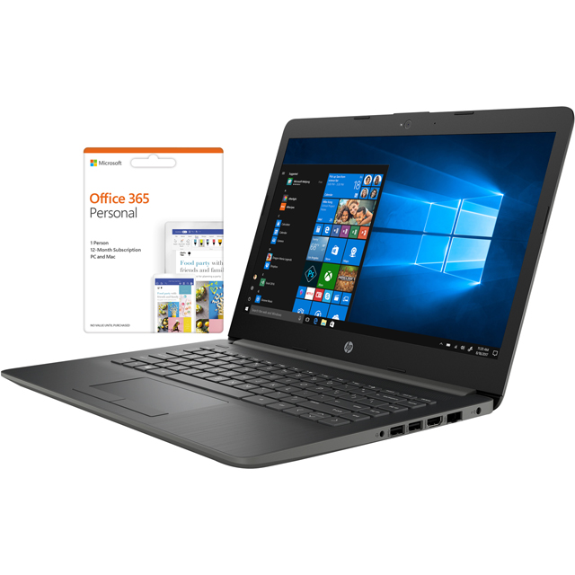 "HP 14-cm0981na 14"" Laptop includes Office 365 Personal 1-year subscription with 1TB Cloud Storage - Smoke Grey - 4XZ18EA#ABU - 1"