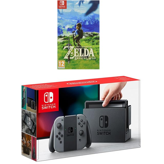 Nintendo Switch 32GB with Legend Of Zelda - Grey - 5027757110146 - 1