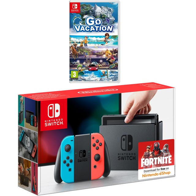 Nintendo Switch 32 GB with Go Vacation - Neon Red/Blue - 5027757112645 - 1