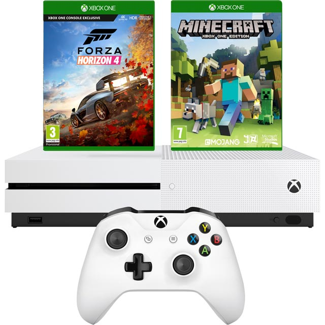 Xbox One S 1TB with Minecraft (Digital Download) and Forza Horizon 4 (Disc) - Pre-Order