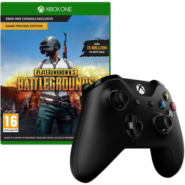 PlayerUnknown's Battlegrounds for Xbox One [Enhanced for Xbox One X] with Wireless Gaming Controller - Black - 5027757113475 - 1