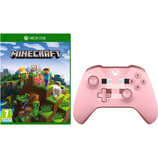 Minecraft Xbox One Edition for Xbox One with Wireless Minecraft Pig Controller