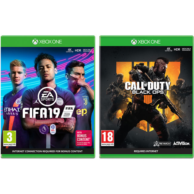 FIFA 19 & Call of Duty: Black Ops 4 for Xbox One [Enhanced for Xbox One X] - 5027757119231 - 1